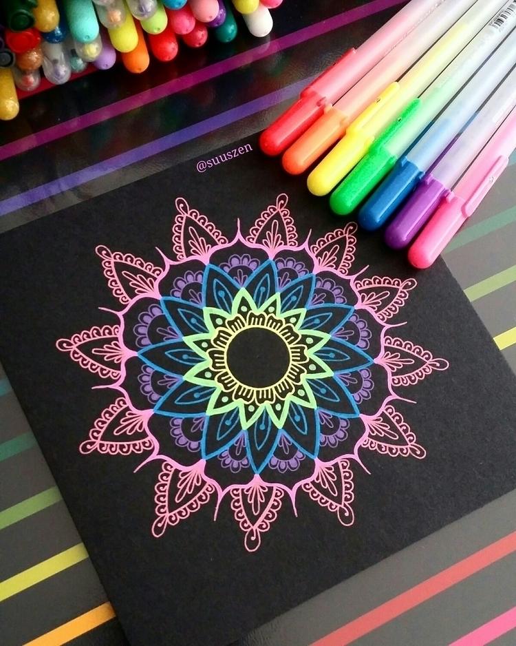 colourful postcard 15,5 cm draw - suuszen | ello