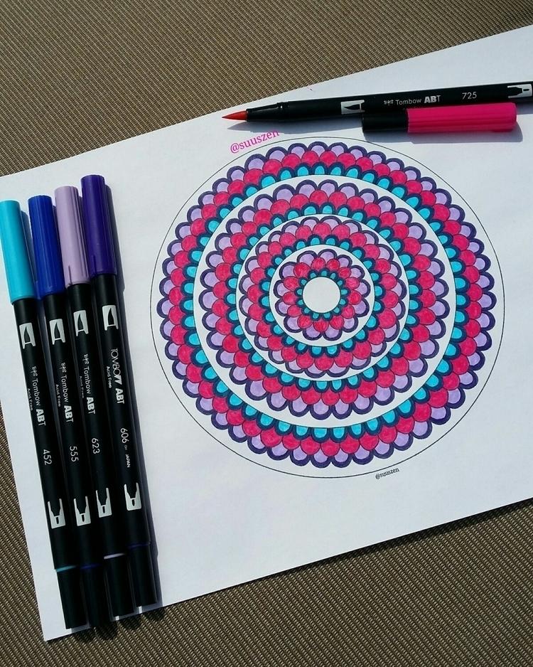 fun colour design dual brushpen - suuszen | ello