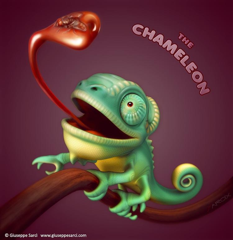 Chameleon ( 3D illustration ).  - giuseppe3d | ello