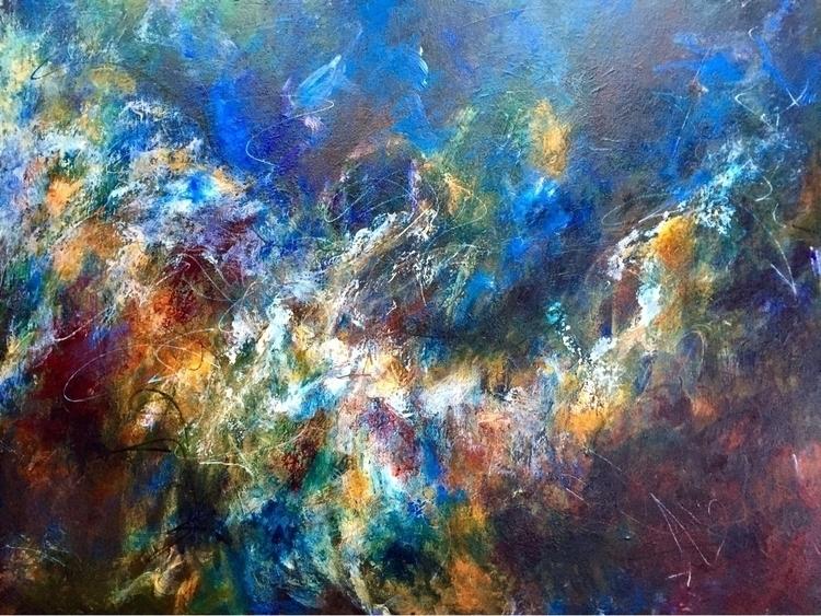 thick Acrylic canvas 30x 40 - abstract - geralyninokuchi | ello