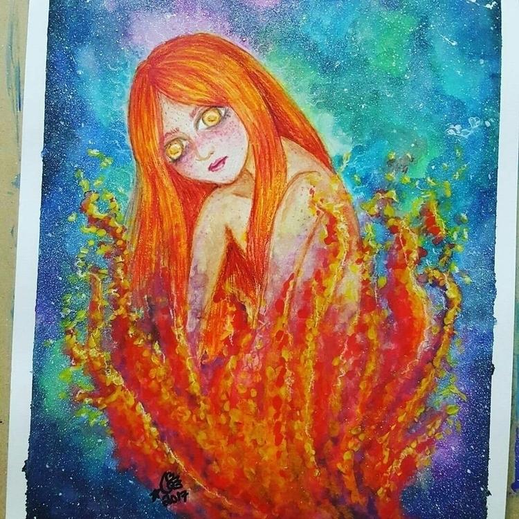 untitled watercolor piece - rainwing   ello