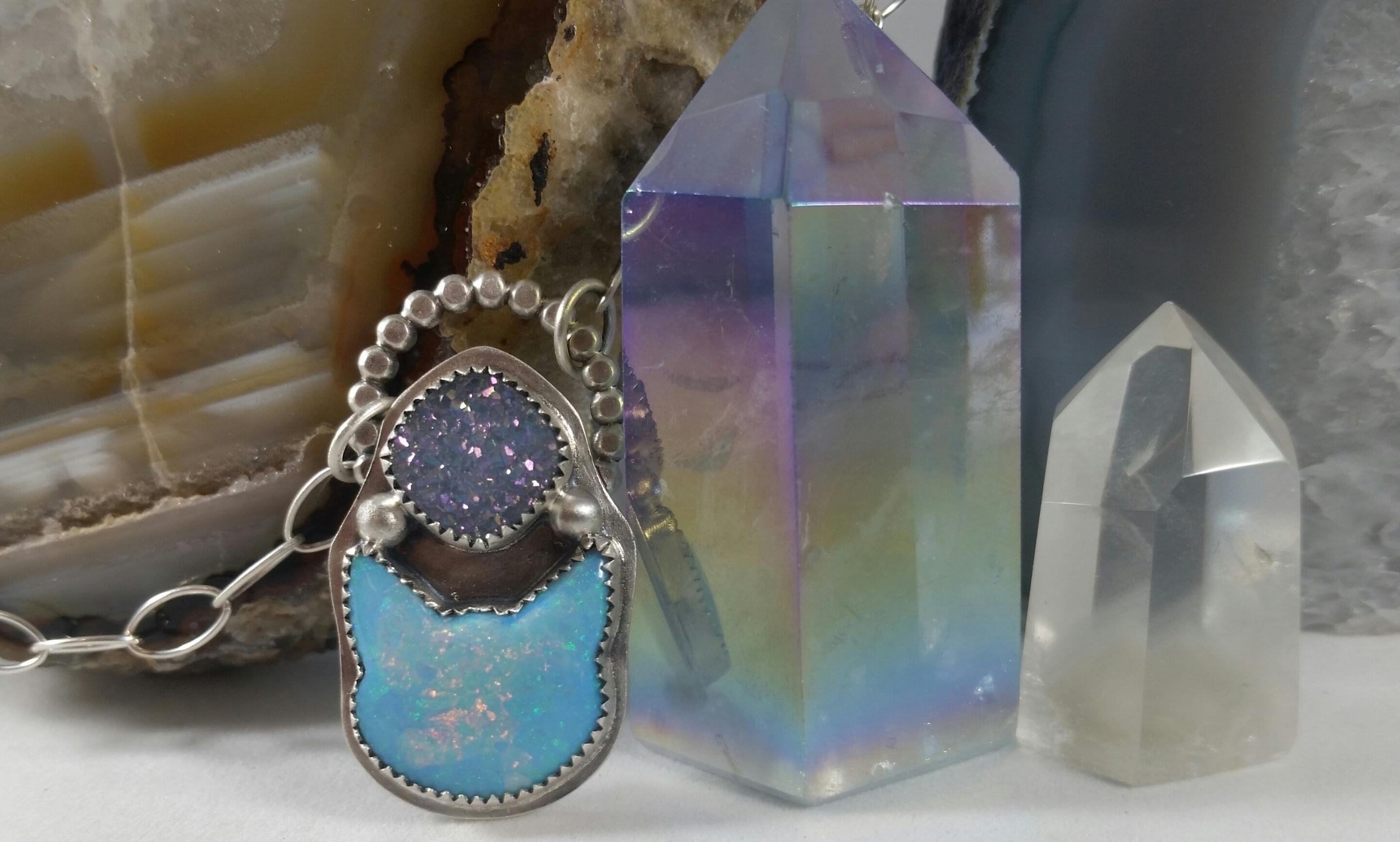 Sterling opal kitty pink rainbo - cattsandcrafts | ello