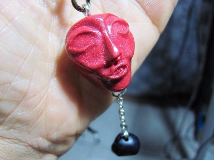 Ruby Face - face, polymerclay, clay - royalsauvage | ello