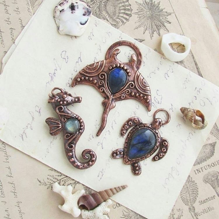 Sea creatures copper labradorit - marrie_ko | ello