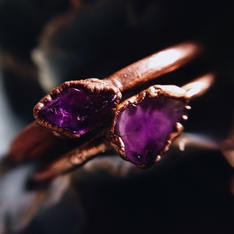 Amethyst set copper - crystalsandsucculents - crystalsandsucculents | ello
