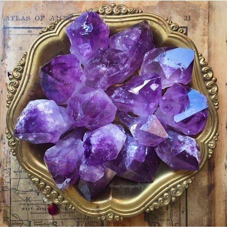 Throwback incredible bowl ameth - heartcavejewelry   ello