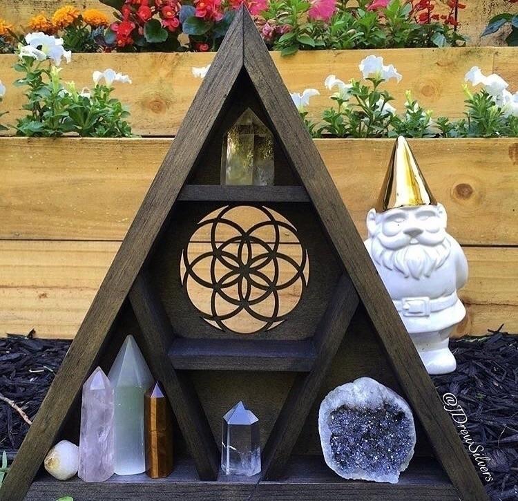 Seed Life triangle shelf Etsy s - jdrewsilvers | ello