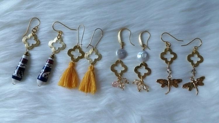 line quatrefoil earrings! hopin - felt_n_love   ello