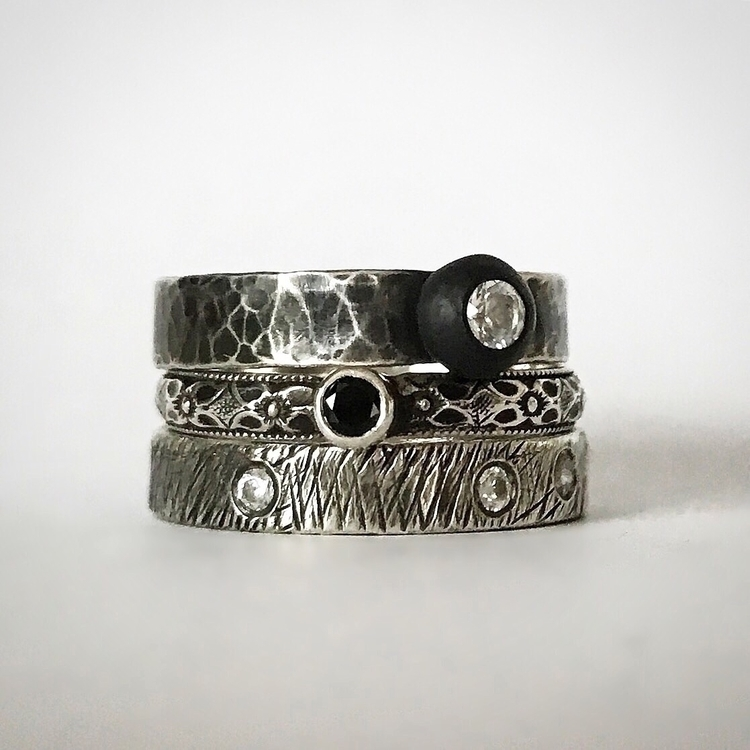 Experimenting textures facets - madeinsf - blackfawnjewelry | ello