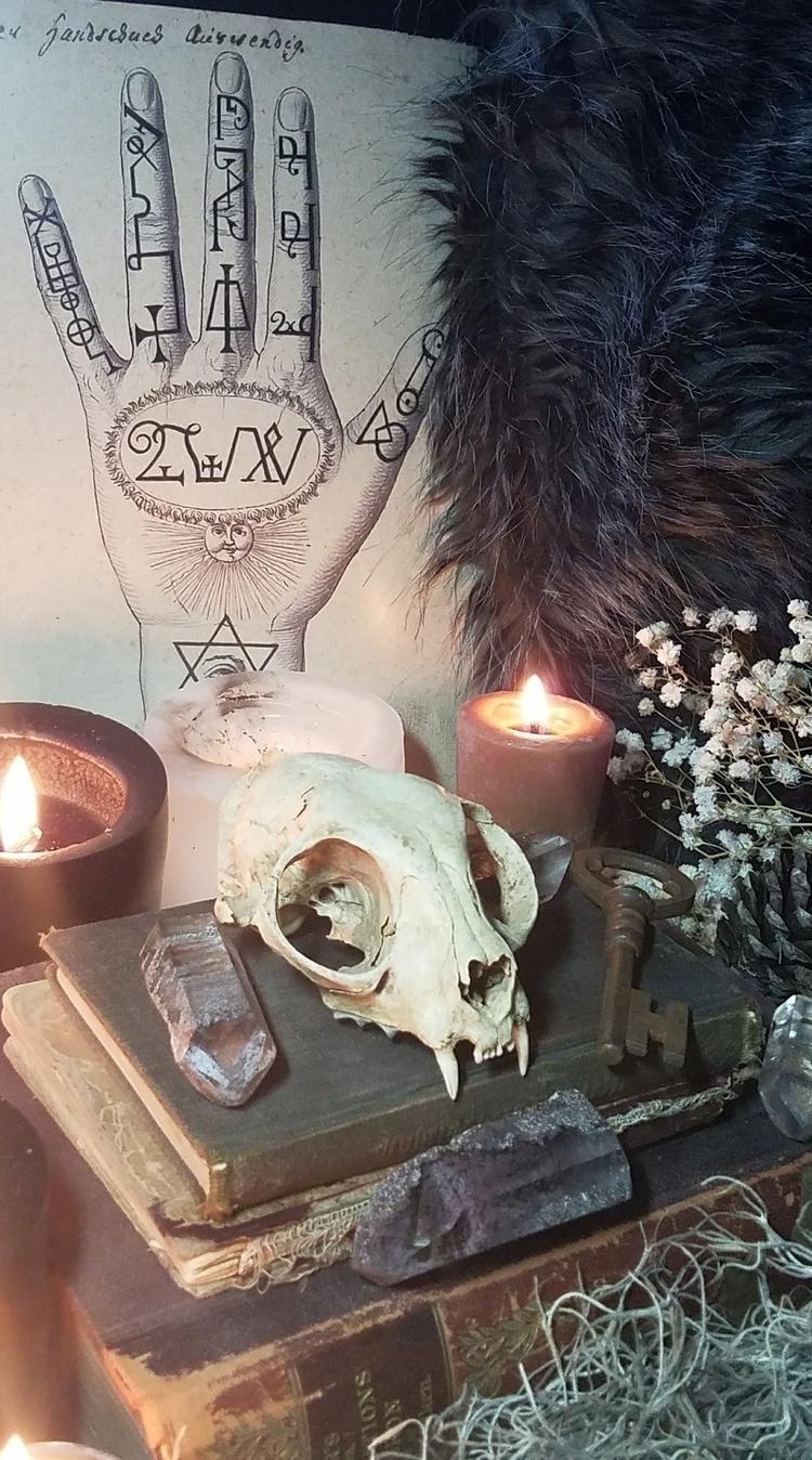 ello, sacredspace, witchlife - paletreearcana | ello
