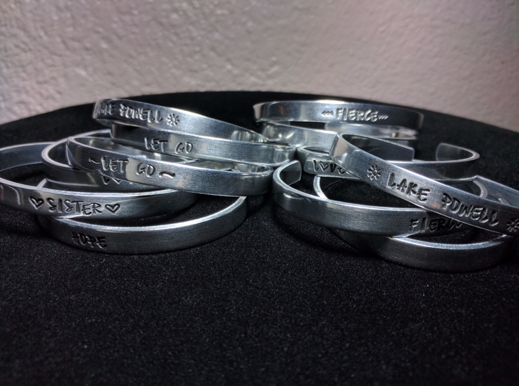 1/4 aluminum custom cuffs - coyotesuncreations - coyotesuncreations | ello