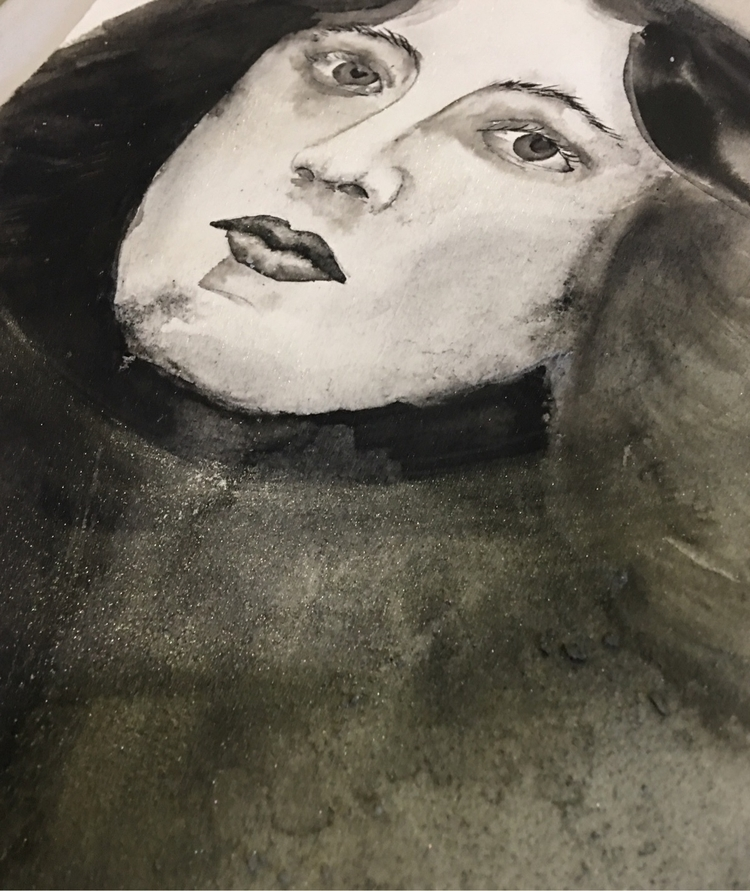 portrait long time - artist, illustration - alexakarabin | ello