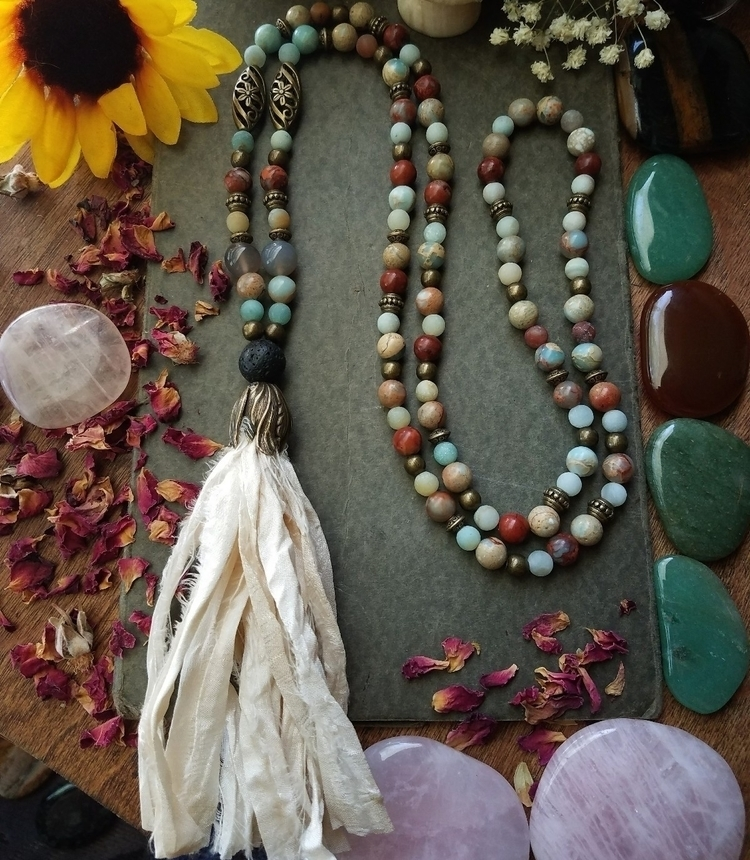 108 Alignment Mala African Opal - sacreddivination | ello