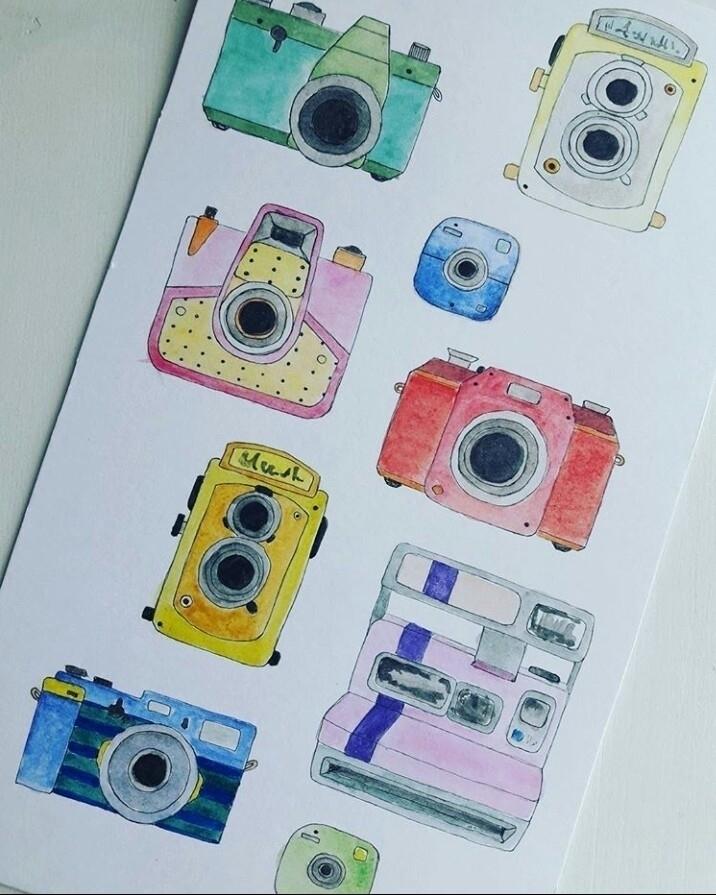 Illustration- Cameras:camera - illustration - toinspireworld-bytriinun   ello