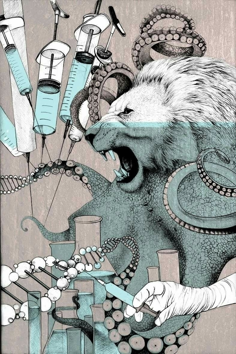 genetics - illustration, illustrated - andreasderebucha   ello