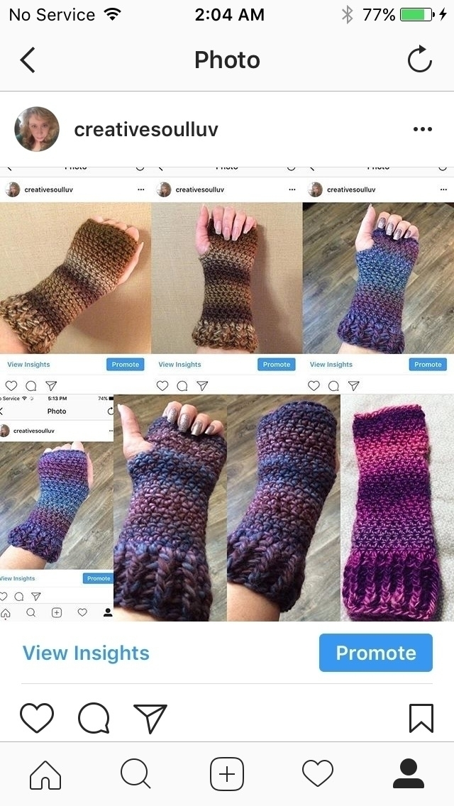 Crochet fingerless gloves $15 p - creativesoul | ello