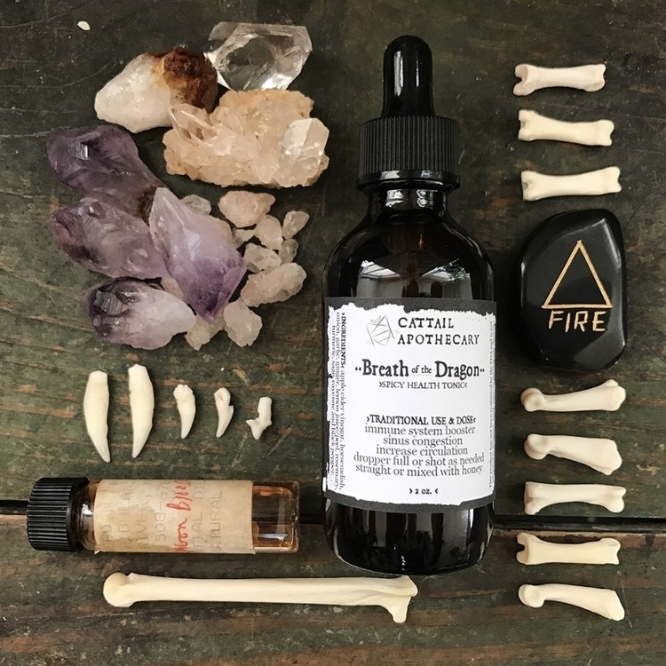 Breath Dragon ~ spicy fire cide - cattailapothecary | ello