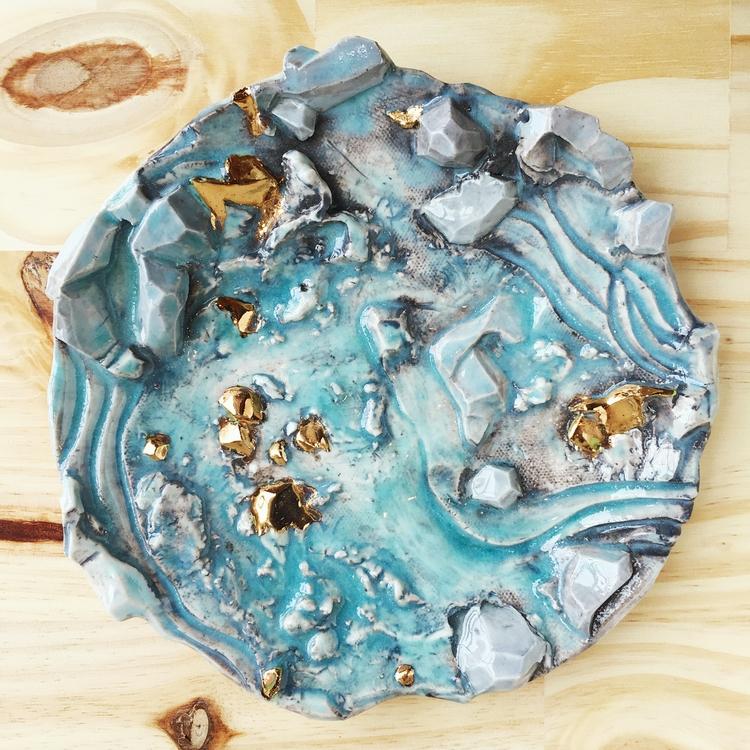 Gemstone Plate - art, crystals - tthomasarts | ello