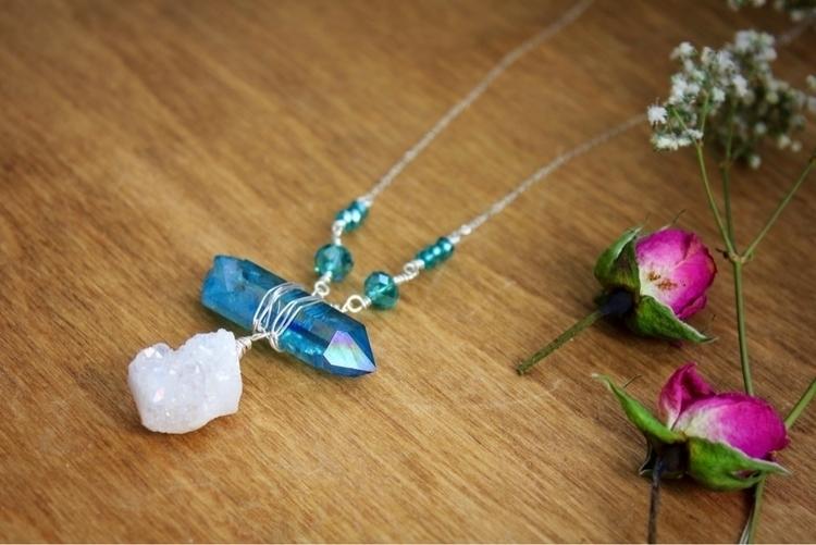 Angel Aura Aqua beautiful pair  - intrinsicjourneysjewelry | ello