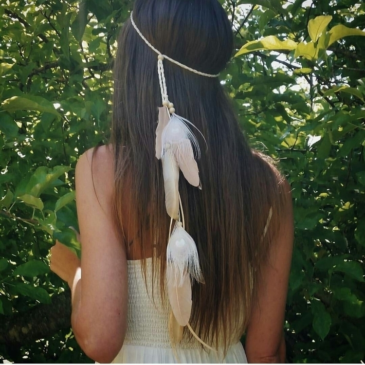 custom design feather headband  - wildandfreepeople | ello