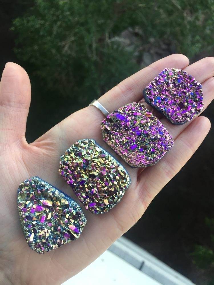 gorgeous titanium aura druzy ca - abkdesigns | ello