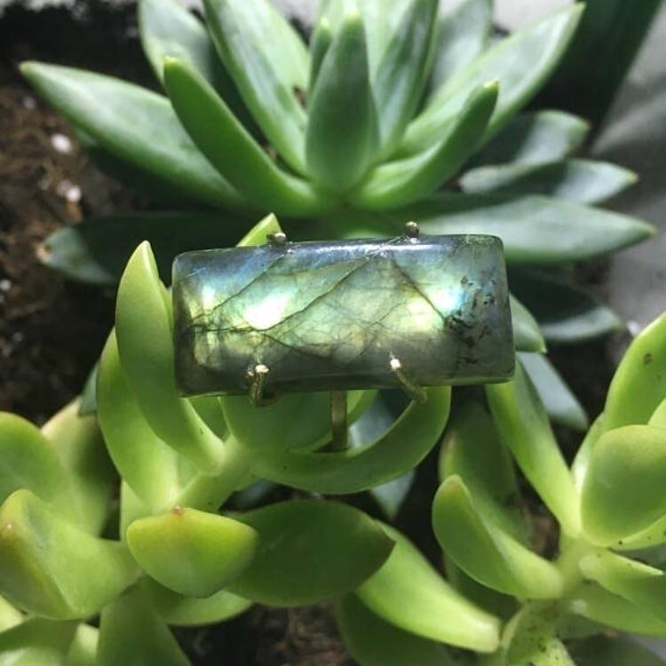 Handmade Labradorite Cabochon R - kristalcave   ello