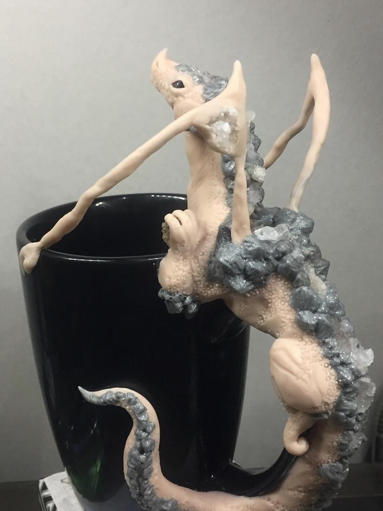 Geode dragon mug works:thinking - bellaenchanted | ello