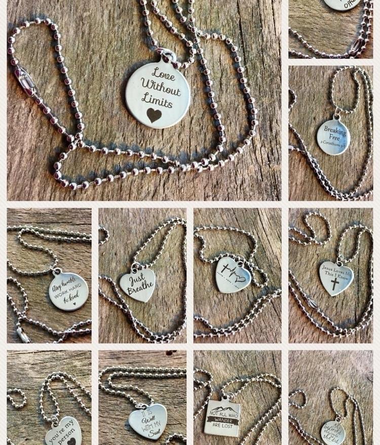 Laser cut charm necklaces shop - thefleasknees   ello