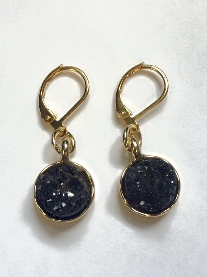 Druzy earrings multiple colours - hempbykayla | ello