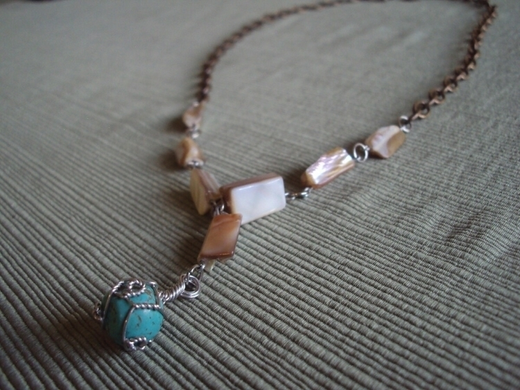 Wrapped Turquoise Abalone Shell - thoughtsofadreamer | ello