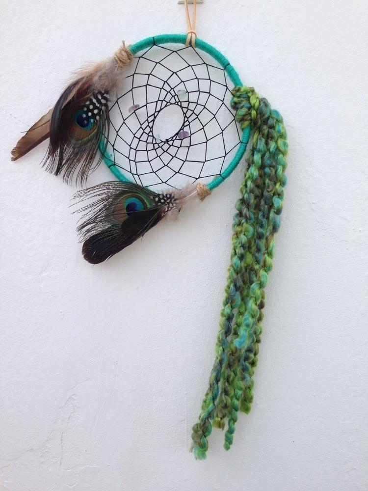 Peacock Fluorite dreamcatcher  - bohoelementsdesigns | ello