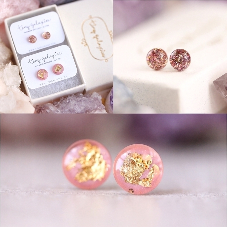 pair 5mm size rose gold glitter - tinygalaxies | ello