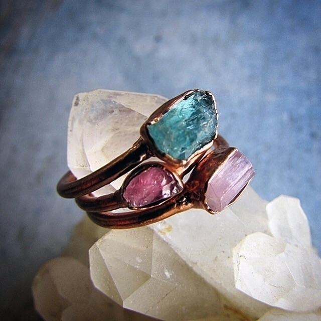 lovelier set stacked Crystals - sea_ox_designs | ello