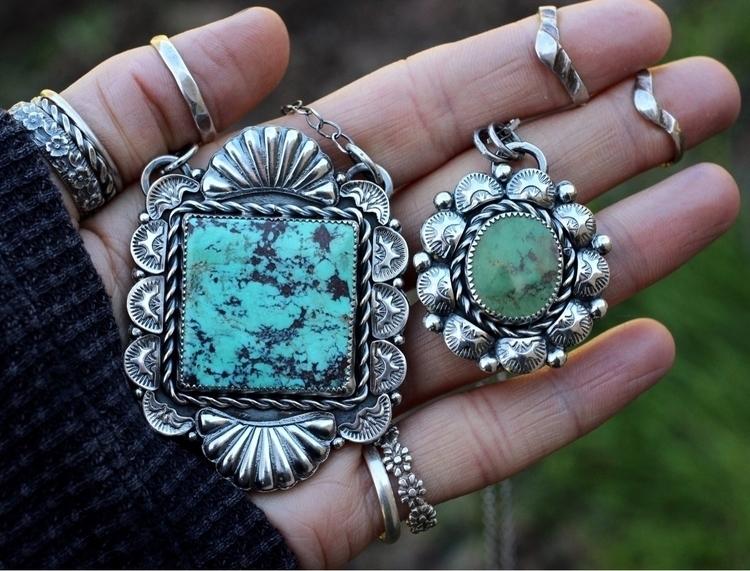 Turquoise sterling silver neckl - davkadeergirl | ello