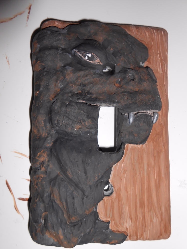 Godzilla light switch cover son - biancaslittlecorner | ello