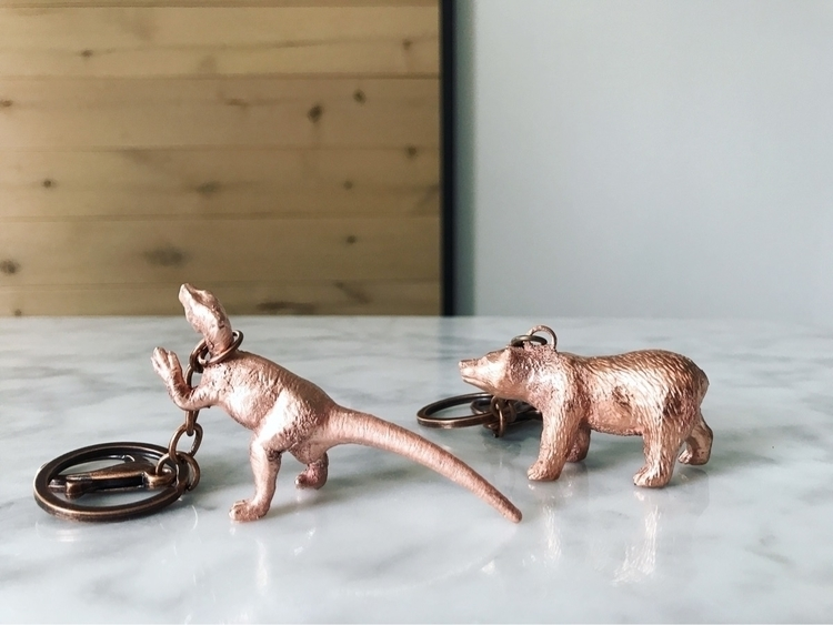Electroformed Animal Keychains - myheartechoesyours | ello