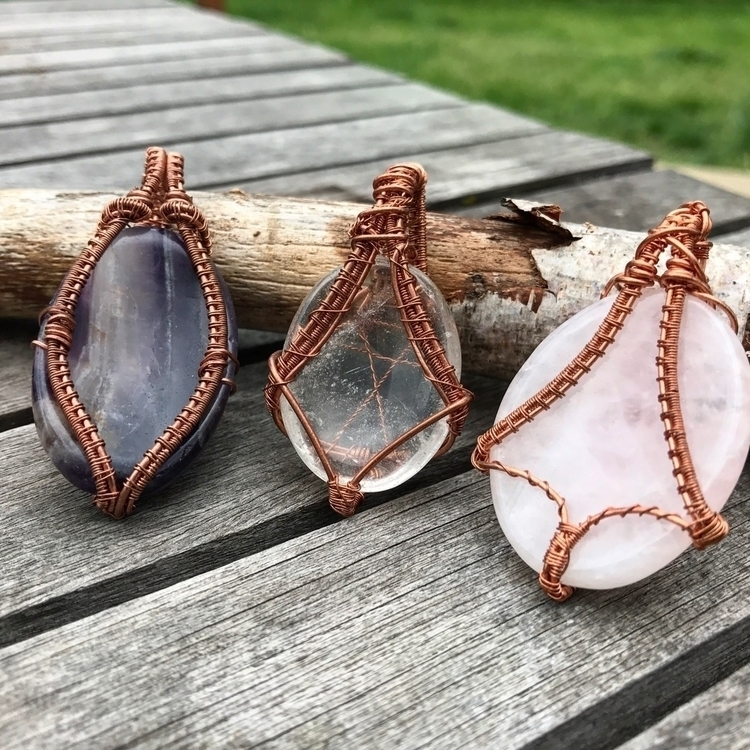 Worry Stone pendants! Find Twis - twistedleafstudio | ello