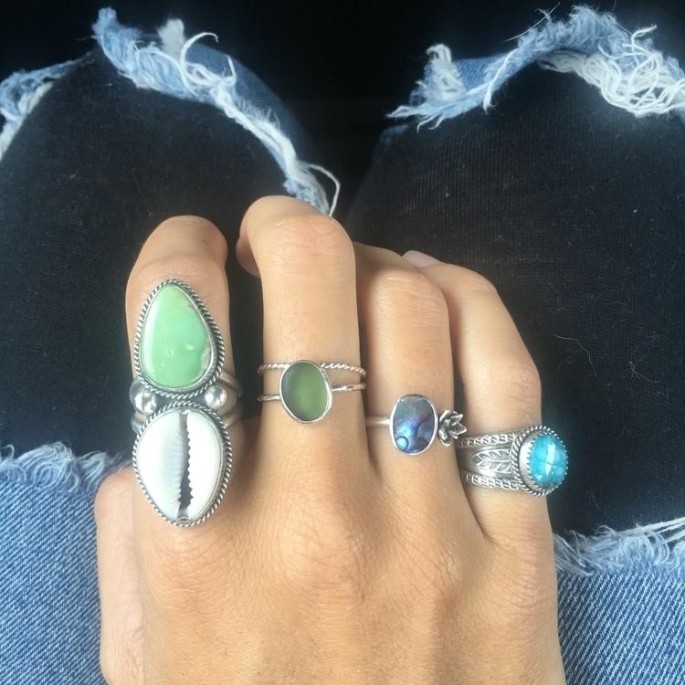Ring love! Stack em ripped jean - saltysouljewelry | ello