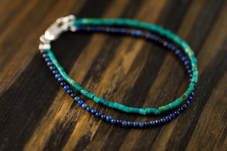 Turquoise + Lapis Lazuli sterli - northcroftstudio   ello