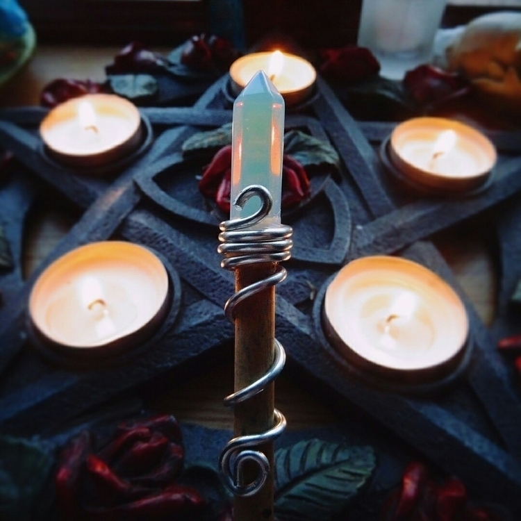 adorable opalite wands left! et - kapika_arts   ello