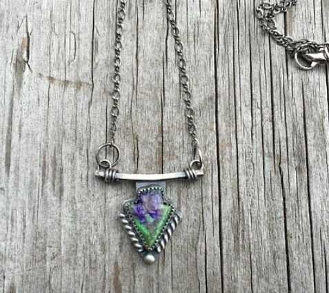 Cultured opal arrowhead pendant - twistedhillstudio | ello