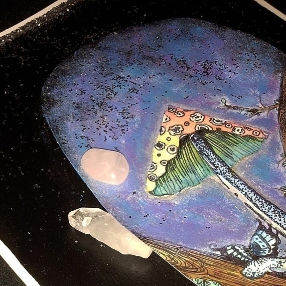 close ooak MAGICK MUSHROOM Art - mintroyaleshop | ello