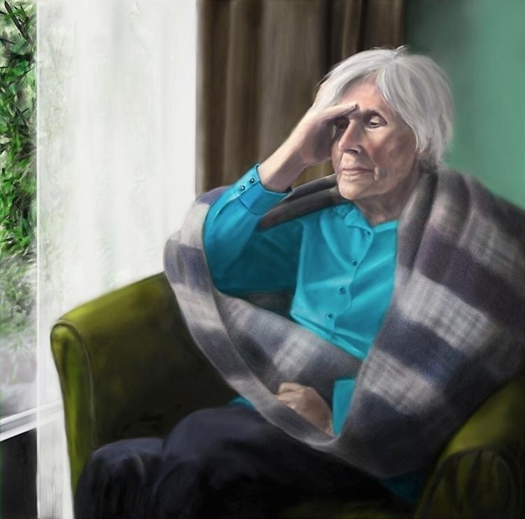 people - painting, portrait, elderly - marjon-4891   ello
