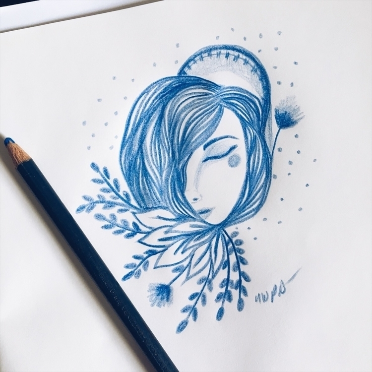Blue - sketchbook, illustration - nwpb | ello