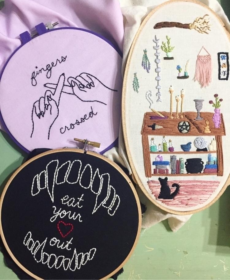 original embroidery designs - fiberart - janajune | ello