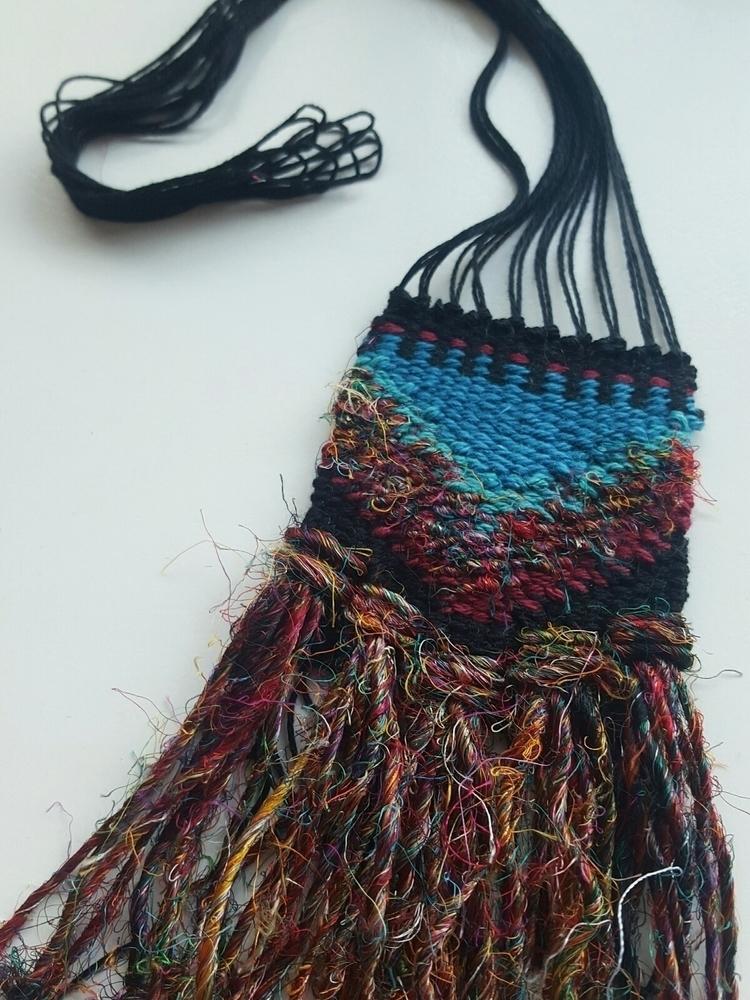 'Shanti' necklace...woven cotto - wabisabiweaves | ello