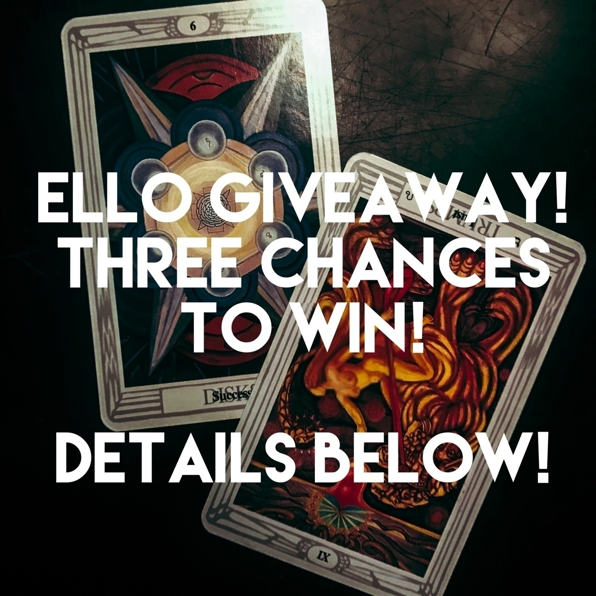 excited Ello GIVEAWAY celebrate - theghoulgirls_tarot | ello