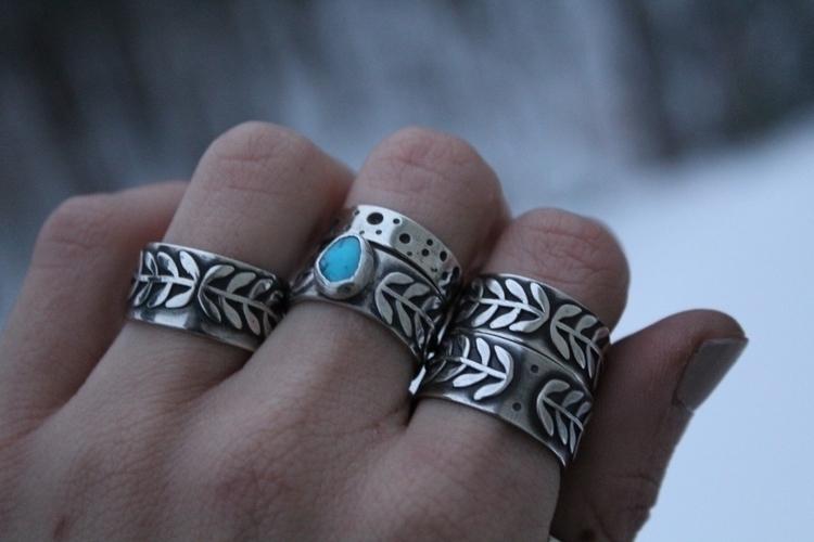 :herb:Sterling Vines:herb - handmade - skeletonkeyjewelry | ello