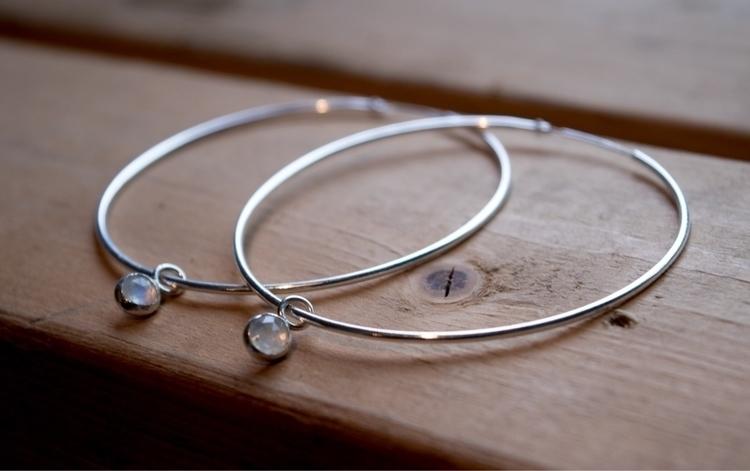 Moonstone big sexy hoops - alishanjewelry | ello