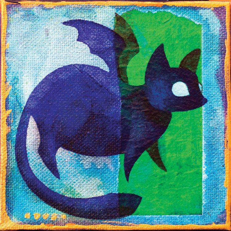 Darkling Batcat, 4x4 gallery-wr - lirelyn | ello